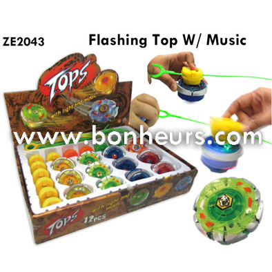 2016 Novelty Toy Flashing Top Music