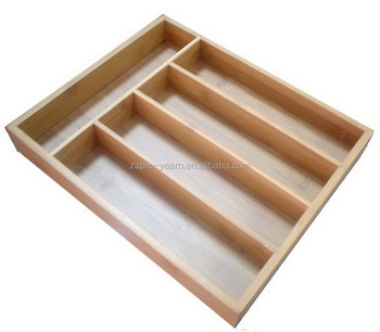 bamboo wooden kitchen cutlery flatware tray