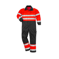 Red FRC mechanic coveralls uniform design cotton flame retardant fr coveralls