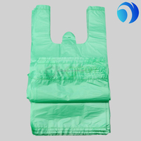 cheap t-shirt plastic bag wholesales green color in packs