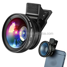 Phone Lens Camera Lenses Kit Macro Lens Wide Angle Lens with Clip-on for Phone, Android Smartphones