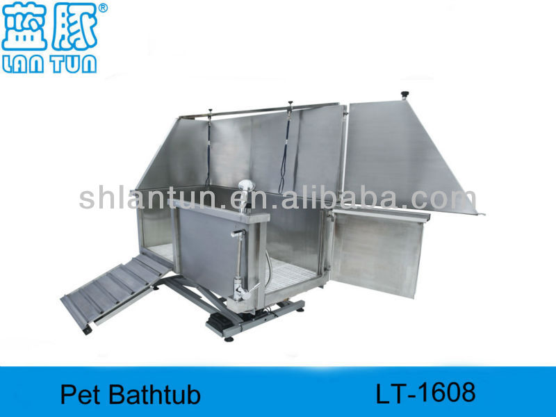 Stainless Steel Electric Lifting Pet Bathtub