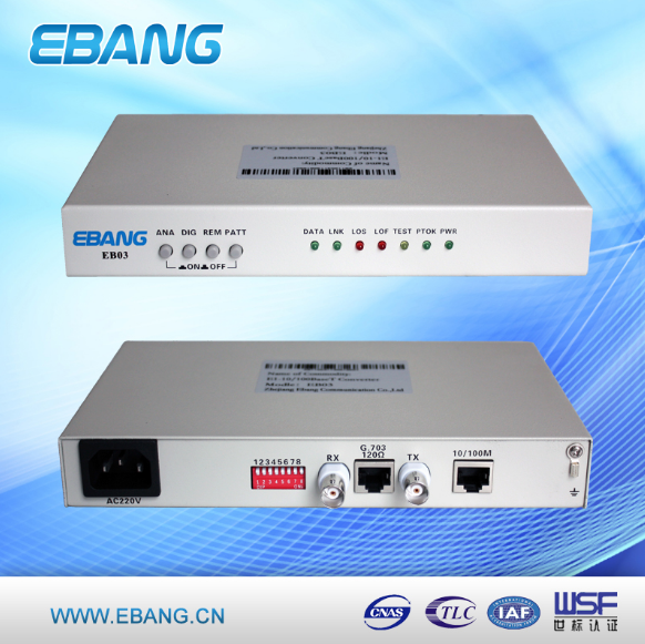E1 to Optical Ethernet Protocl Converter, E1 to Fiber Converter
