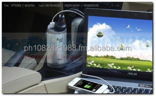 Car 12V to 220V Power Inverter with Air Purifier Oxygen Bar 200W