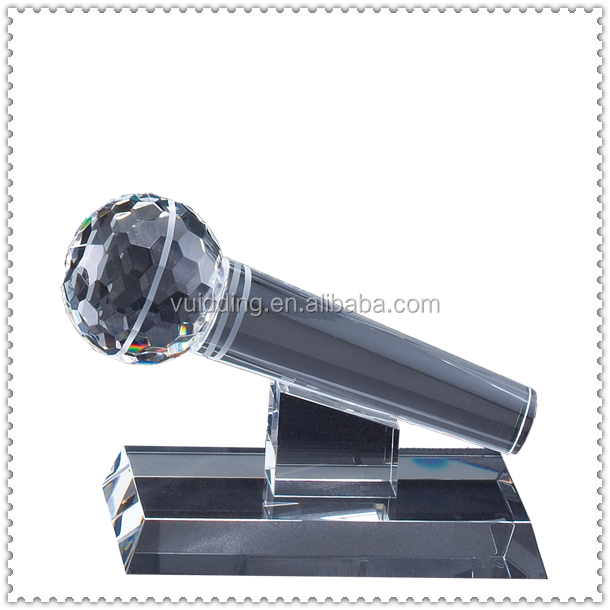 Personalized Souvenir Crystal Microphone Model