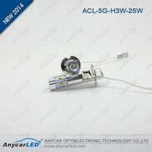 Anycar high power CREE LED H3 25W LED transit fog lamp White light T10 T15 H1 880 881 H3C PW24 etc.
