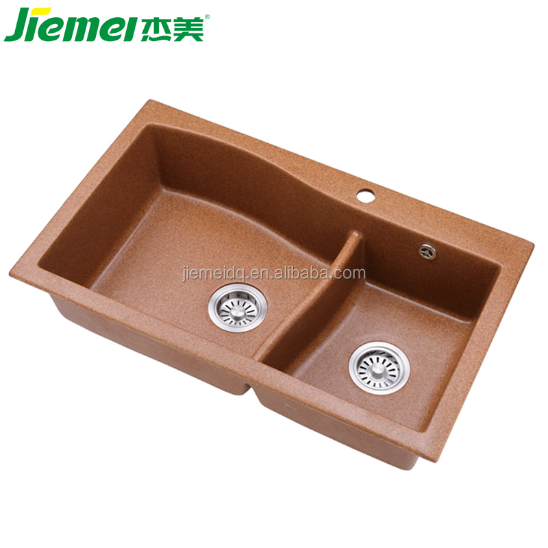 JM204 acrylic sand and resin basin/ Bathroom/kitchen vanity top/ composite quartz stone sink for kitchen