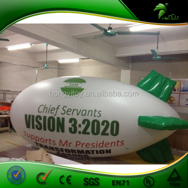 Large helium balloons,custom made airship helium balloon with high quality printing