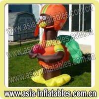 Advertising Inflatable, Turkey Playing Football Thanksgiving Inflatable in 6 feet tall
