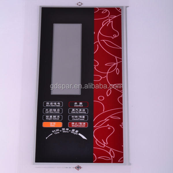 high quality anti-scratch plastic front panel for induction cooker