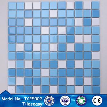 25x25 Tiles Glazed Ceramic Mosaic Tile Pool - Buy Glazed Ceramic ...
