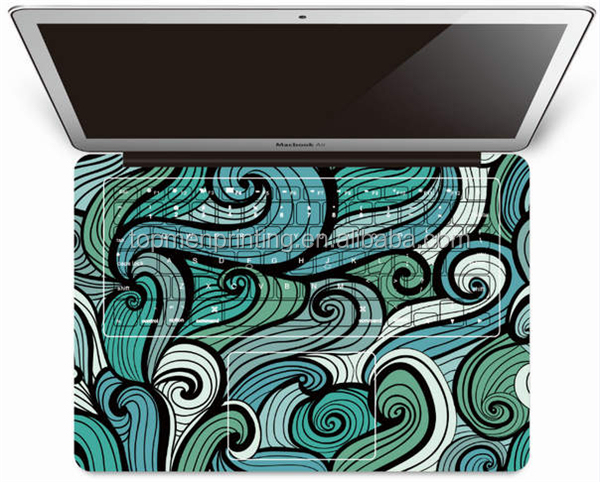 OEM custom design high quality laptop skin pack for macbook