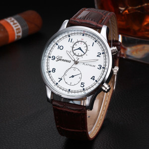 Mens Business Watches Top Brand Luxury Leather Band Watch Man Fashion Sport Quartz Wrist Watch Men Clock Male Hours