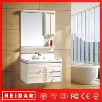 Newest modern wall mounted with mirror light PVC bathroom cabinet
