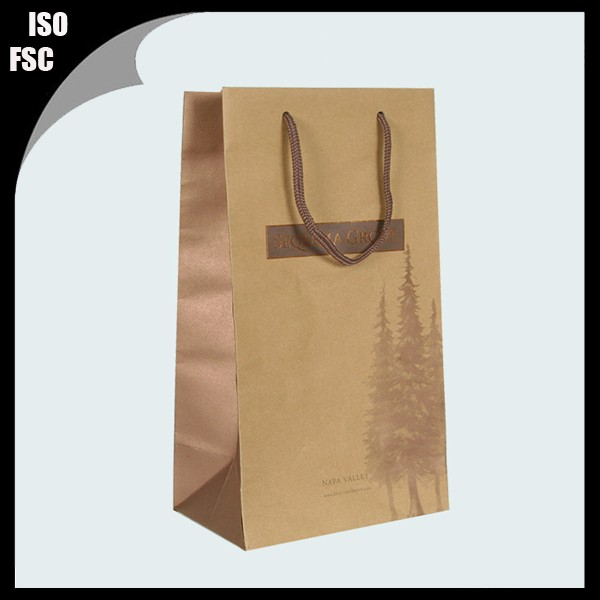luxury paper bag for wine