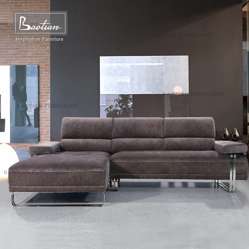 Modern hot sell design L-shaped corner leather trend sofa sectional