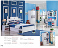 2017 Newest Morden kids bedroom set was made by E1 MDF borad for boy children furniture