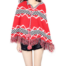 ZH0432A 2016 New arrival knitted sweater lady fashion cloak