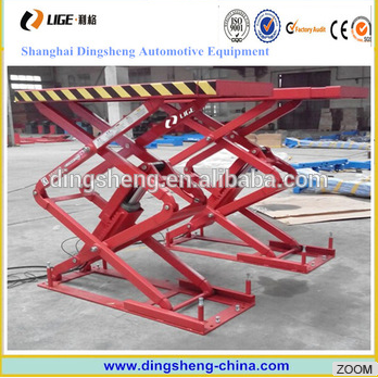 3.5T Full Rise Scissor Lift In-ground Mounting