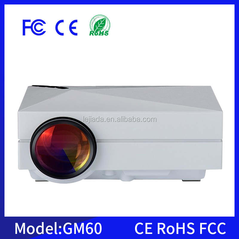 GM60 1000Liumes hdmi home theater mini led projector led beamer full hd 3d