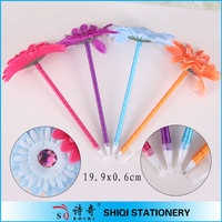 funny flower feature ballpoint pen