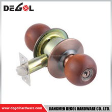 India style cheap price cylinderical lock double sliding wooden door lock