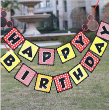 Custom Design Baby Shower Decoration Paper Happy Birthday Letter Banners