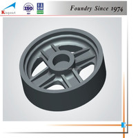Hot products bestseller industry spare parts iron casting pulley wheel