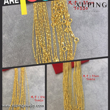 xuping dubai gold jewellery designs 24k chain necklace for women