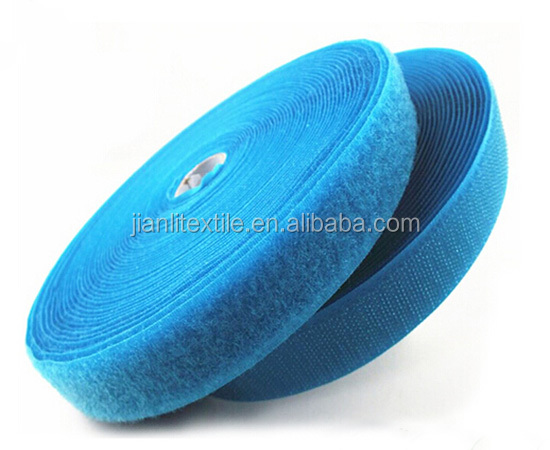 Nylon soft colored hook and loop fastener tape of textile accessories