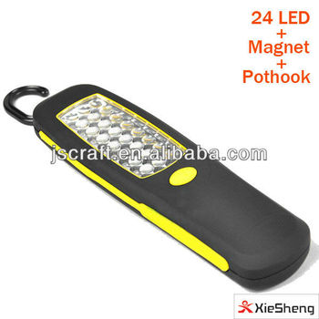 24 led magnet led work lamp with hook