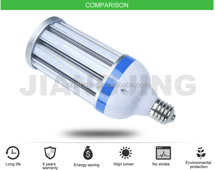 2017 Products New 27W 36W 45W 50W 80W 100W 120W Led Corn Light Bulb Dimmable E27 Led Lights With Transparent Cover