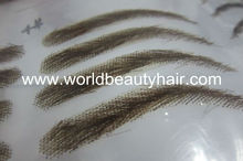 high quality false human hair eyebrow fake eyebrow lace eyebrow