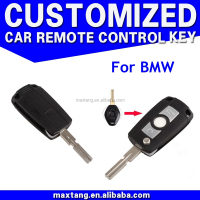 For BMW Replacement 2 Buttons Remote Flip Key Fob Case Shell Car Key Blank Case Cover