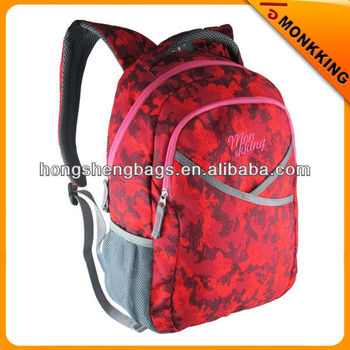 2015 camouflage backpack school bag