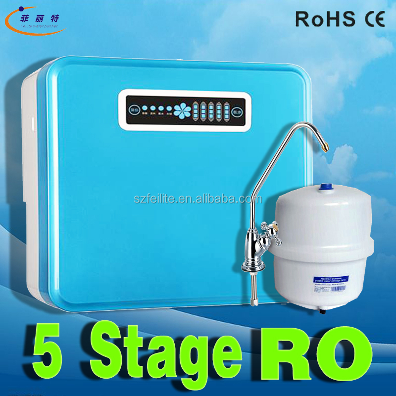 5 stage 50GPD pure water drinking kitchen ro osmosis water system