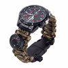 KongBo 550lb Paracord Watch Strap 7-in-1 Survival Rescue Kit