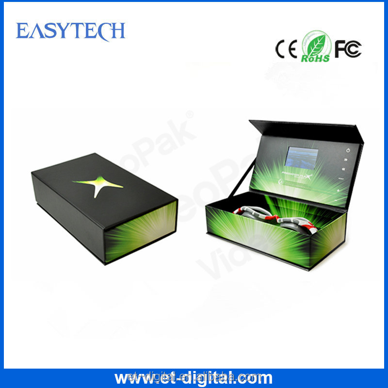 2016 The most hot selling advertising tool/wedding invitation/promotional gift box video brochure video greeting card
