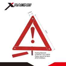 Xracing NMWT004-01 GPPS+HIPS plastic reflective warning triangle