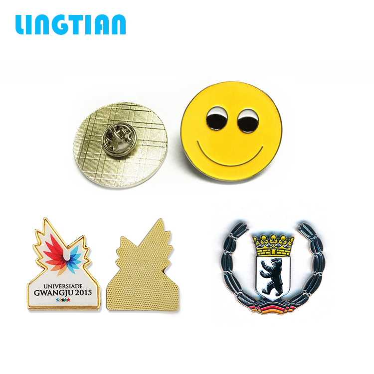 LINGTIAN Custom Logo Wholesale Metal Badge Name Badge