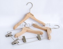 DL0356 Luxury light color Beech wood clothes hanger for children