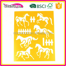 super style Big discount Technical Cartoon Stencils for Kid Craft template stencil