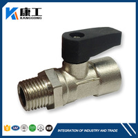 Pump Water Brass Globe Miniature 3Pcs Trunnion Ball Valve