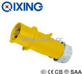 QIXING 3P 16A 4h 110V yellow color IP44 electrical plug and socket