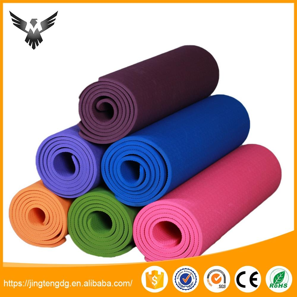 High quality light weight ome tpe yoga mat and bag set