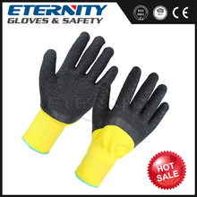 3/4 dip industrial black latex rubber gloves