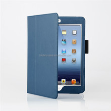 Smart cover with flip stand for ipadmini leather case