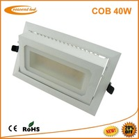 180 days FREE Replacement ! 40w dimmable rectangular recessed led downlight CRI>80 PF>0.9