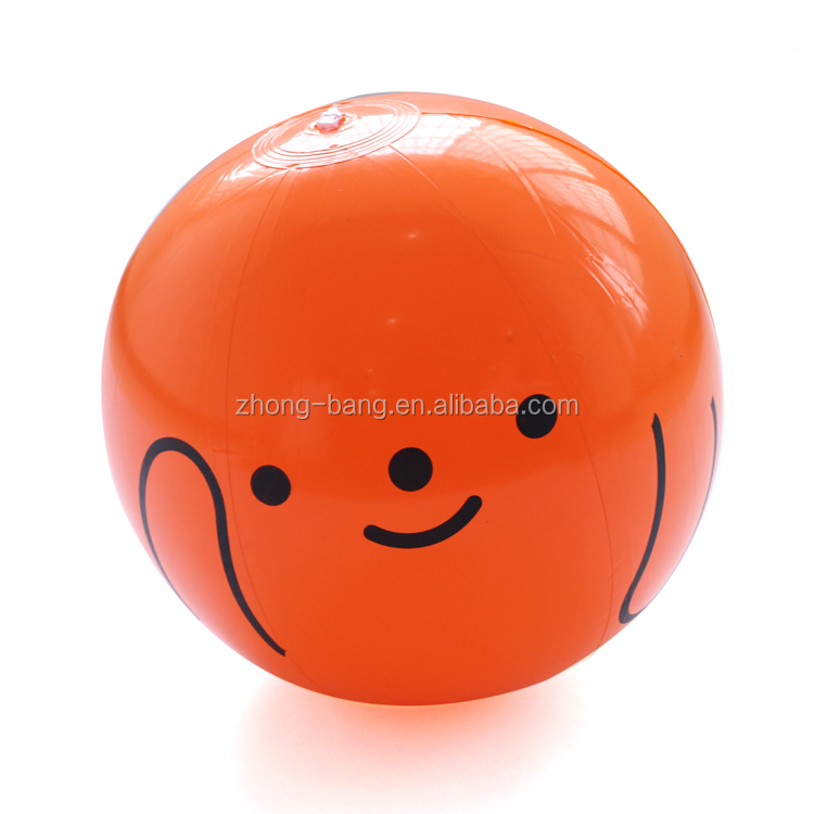 inflatable smiley face beach ball with custom logo for promotion