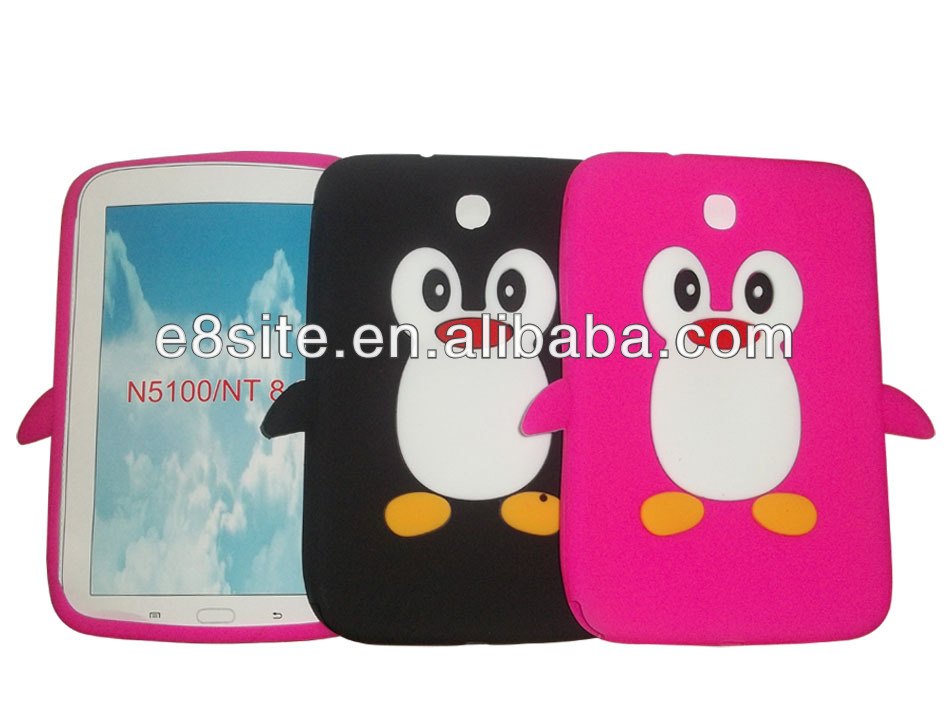 Android Tablet Penguin Silicon Case For SamSung N5100 Galaxy Note 8.0